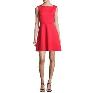 1State Fit and Flare Red Sleeveless Dress - XS